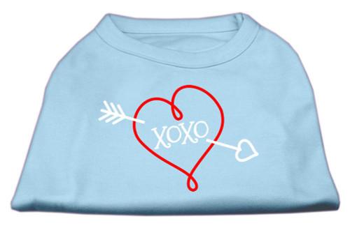 Xoxo Screen Print Shirt Baby Blue Xs (8)