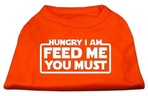 Hungry I Am Screen Print Shirt Orange Med (12)