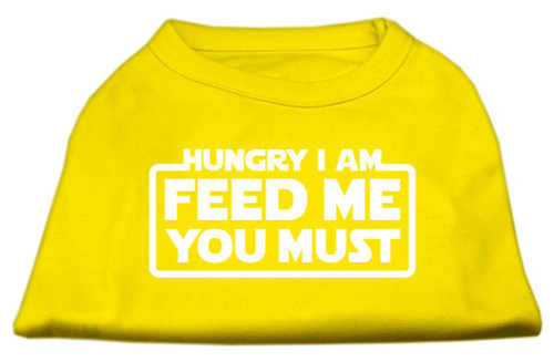 Hungry I Am Screen Print Shirt Yellow Med (12)