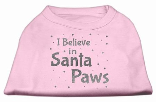 Screenprint Santa Paws Pet Shirt Light Pink Xxxl (20)