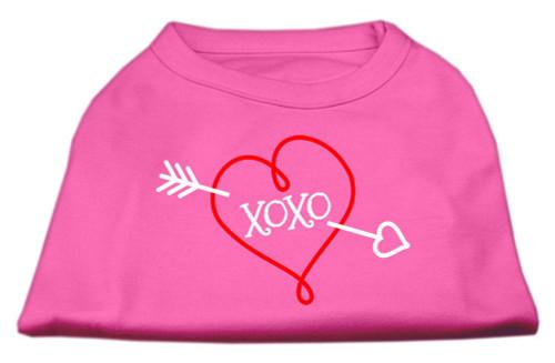 Xoxo Screen Print Shirt Bright Pink Xs (8)