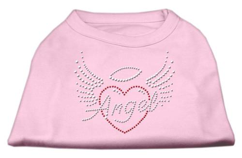 Angel Heart Rhinestone Dog Shirt Light Pink Sm (10)