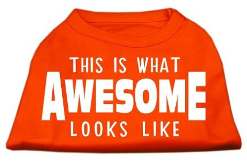 This Is What Awesome Looks Like Dog Shirt Orange Xxl (18)