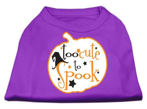 Too Cute To Spook Screen Print Dog Shirt Purple Xs (8)