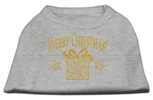 Golden Christmas Present Dog Shirt Grey Lg (14)