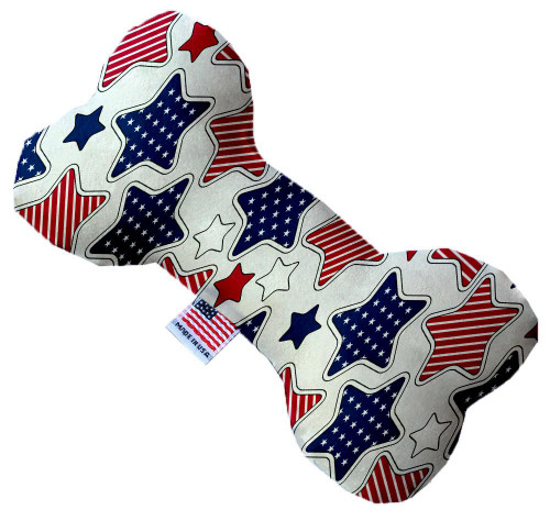 Patriotic Stars 8 Inch Bone Dog Toy