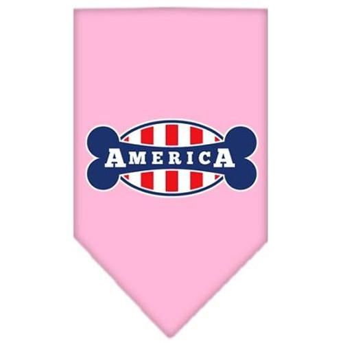 Bonely In America Screen Print Bandana Light Pink Small