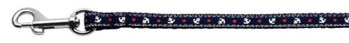 Anchors Nylon Ribbon Leash Blue 3/8 Inch Wide 4ft Long