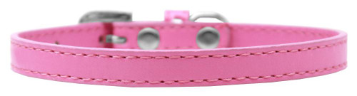 Omaha Plain Puppy Collar Bright Pink Size 8