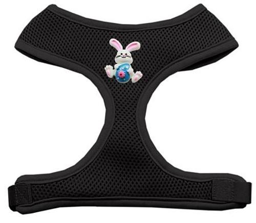 Easter Bunny Chipper Black Harness Medium