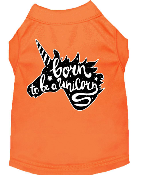 Born To Be A Unicorn Screen Print Dog Shirt Orange Xl (16)