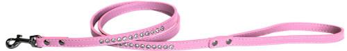 """Clear Jewel Pet Leash 1/2"""" Wide X 4' Long Light Pink"""