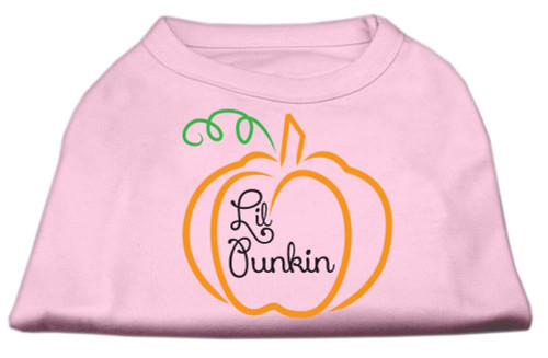 Lil Punkin Screen Print Dog Shirt Light Pink Xxl (18)