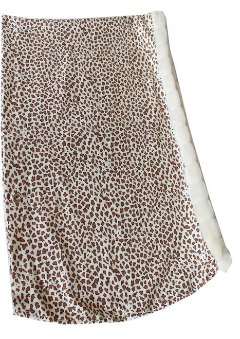 Puppy Pouch Sling Cheetah W/ Ivory Trim Size Large