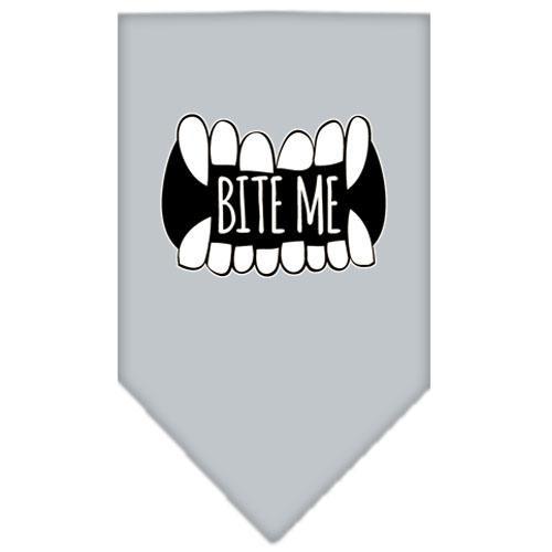 Bite Me Screen Print Bandana Grey Large