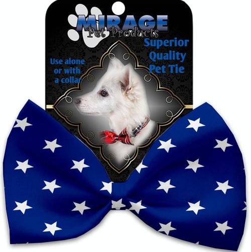 Blue Stars Pet Bow Tie