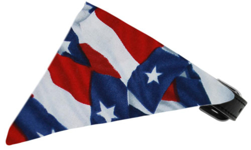 Texas Flag Bandana Pet Collar Black Size 14