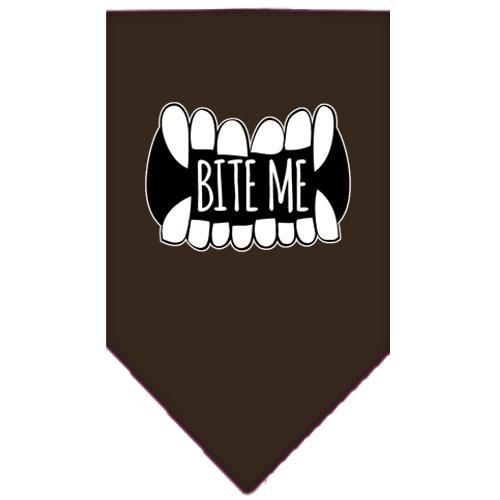Bite Me Screen Print Bandana Brown Large