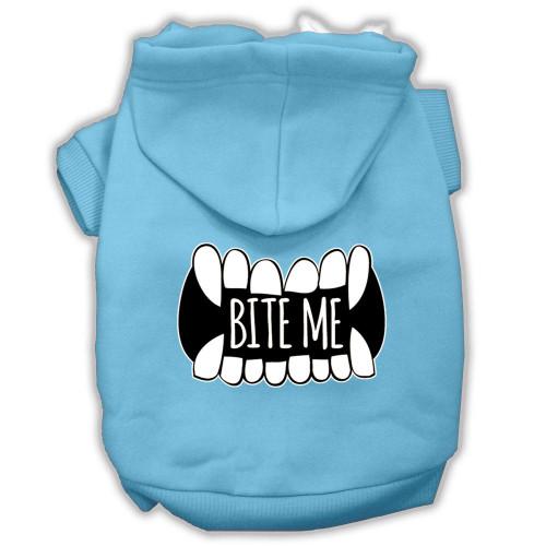Bite Me Screenprint Dog Hoodie Baby Blue Xxl (18)