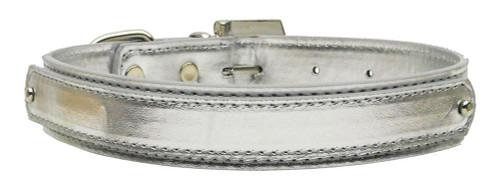 "3/4"" (18mm) Metallic Two-tier Collar  Silver Large - 18-02 LGSVM"