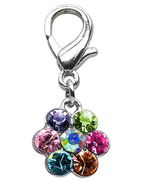 Lobster Claw Flower Charm Multi Color - 11-07 MC