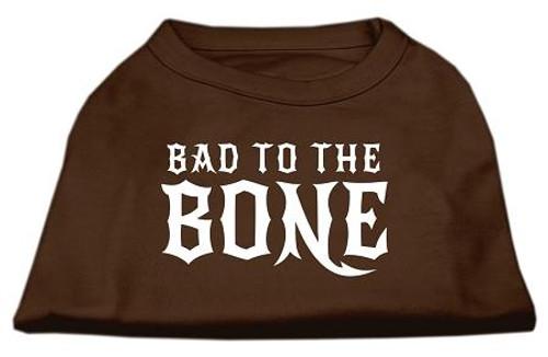 Bad To The Bone Dog Shirt Brown Xl (16)