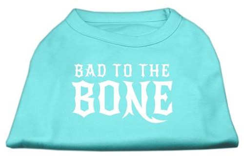 Bad To The Bone Dog Shirt Aqua Xl (16)