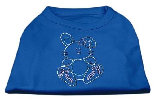 Bunny Rhinestone Dog Shirt Blue Xxl (18)