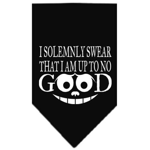 Up To No Good Screen Print Bandana Black Large