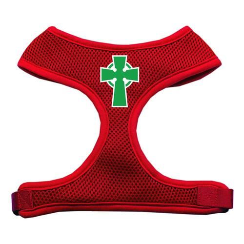 Celtic Cross Screen Print Soft Mesh Harness Red Medium