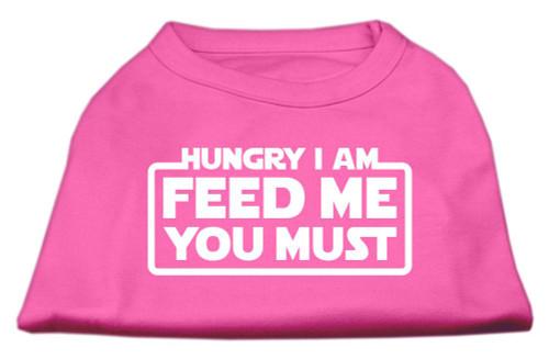 Hungry I Am Screen Print Shirt Bright Pink Sm (10)