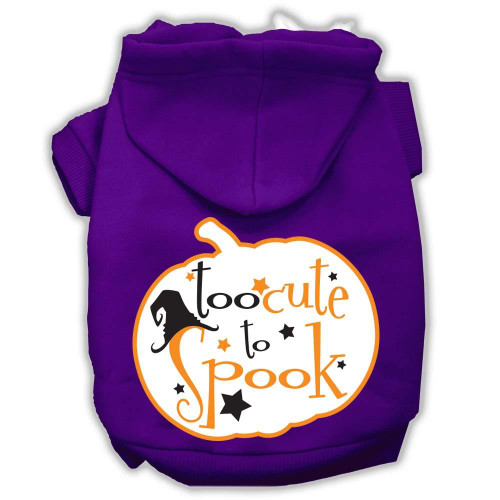 Too Cute To Spook Screenprint Hoodie Purple Xxxl(20)