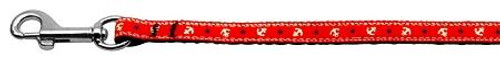 Anchors Nylon Ribbon Leash Red 3/8 Inch Wide 4ft Long