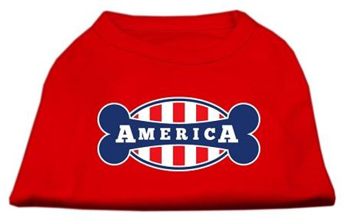 Bonely In America Screen Print Shirt Red Xl (16)
