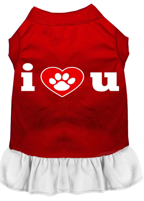 I Heart You Screen Print Dress Red With White Lg (14)