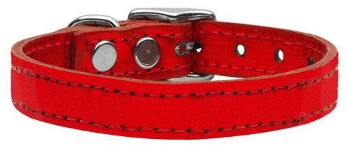 Plain Metallic Leather Metallic Red 12