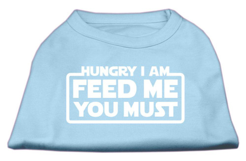Hungry I Am Screen Print Shirt Baby Blue Sm (10)