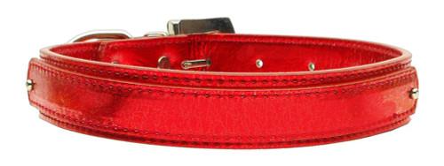 """3/4"""" (18mm) Metallic Two-tier Collar  Red Large - 18-02 LGRDM"""