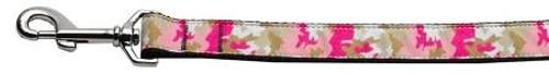 Pink Camo Nylon 1 Wide 4ft Leash