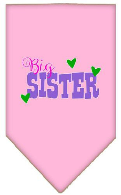 Big Sister Screen Print Bandana Light Pink Large