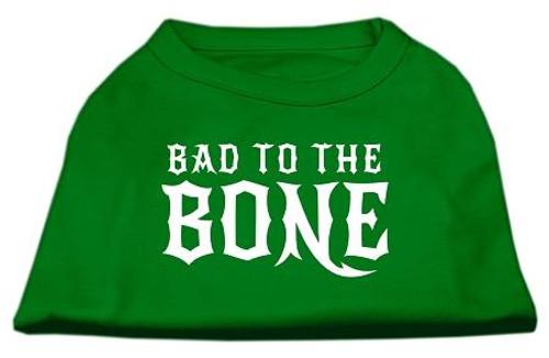 Bad To The Bone Dog Shirt Emerald Green Xl (16)