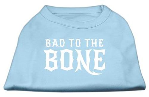 Bad To The Bone Dog Shirt Baby Blue Med (12)
