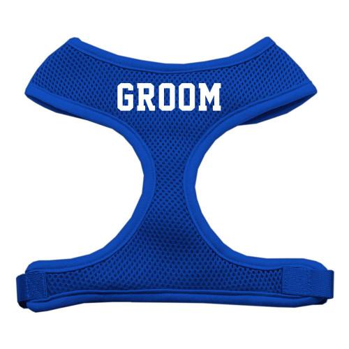 Groom Screen Print Soft Mesh Harness Blue Extra Large