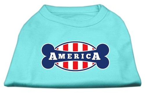 Bonely In America Screen Print Shirt Aqua Xl (16)
