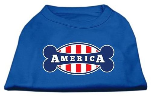 Bonely In America Screen Print Shirt Blue Xl (16)