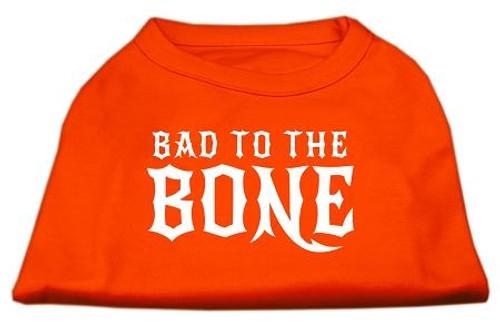 Bad To The Bone Dog Shirt Orange Xl (16)