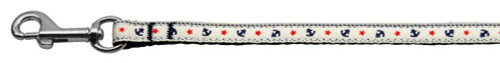 Anchors Nylon Ribbon Leash White 3/8 Inch Wide 4ft Long