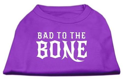 Bad To The Bone Dog Shirt Purple Xl (16)