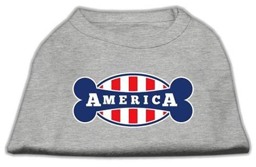 Bonely In America Screen Print Shirt Grey Xl (16)