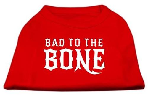 Bad To The Bone Dog Shirt Red Xl (16)